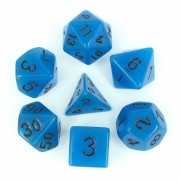 Glow in the dark Blue dice set