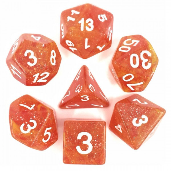 (Yellow + Red) Galaxy dice set