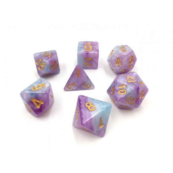 (Purple+Blue+White) Marble dice