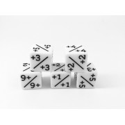 d6 counter dice white