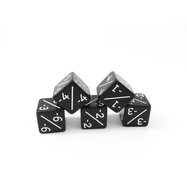 D6 counter dice black