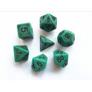 Green Ancient dice set