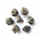 Silver Ancient dice set