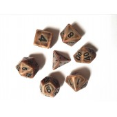 Copper Ancient dice set
