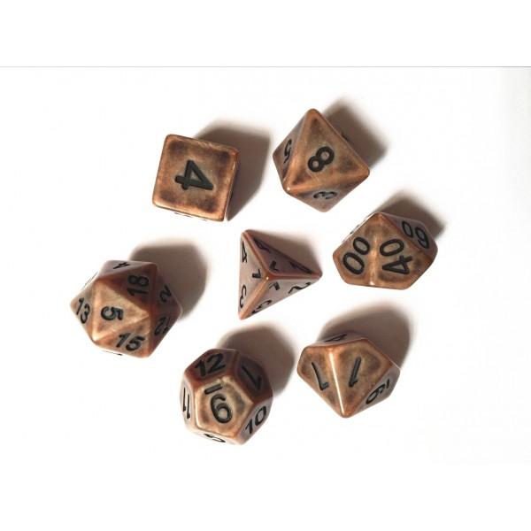 Copper Ancient dice set