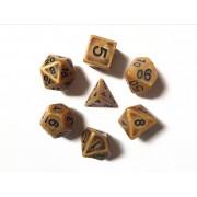 Gold Ancient dice set