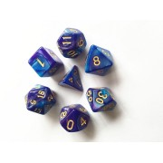 (Blue+Deep purple) Blend color dice set