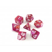(Yellow+Rose red)Blend color dice set