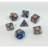 (Dark Red+blue) Blend color dice set