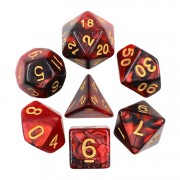 (Black+Pearl Red) Blend Color Dice