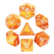 (Lemon yellow+Orange) Blend Color Dice