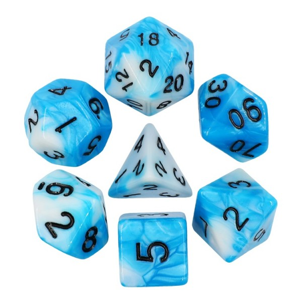 (Blue+White) Blend Color Dice