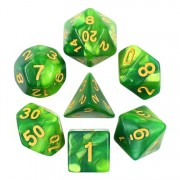 Green Color Blend Dice