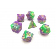 Purple Green blend dice