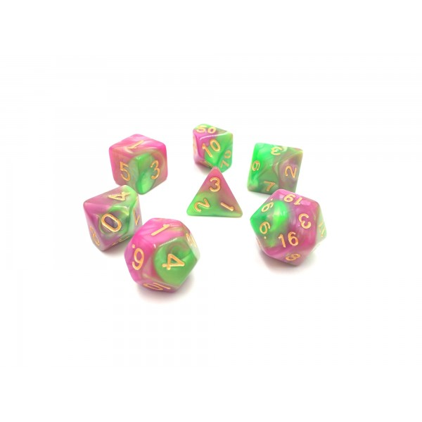 Rose red Green blend dice