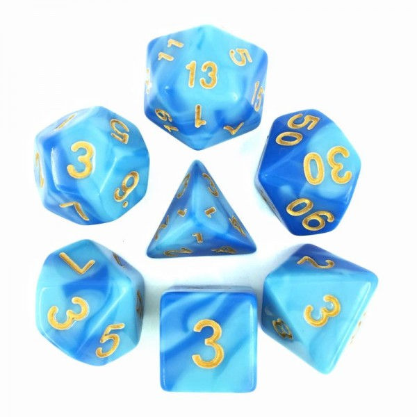 (Sky blue+Blue) Blend color dice set