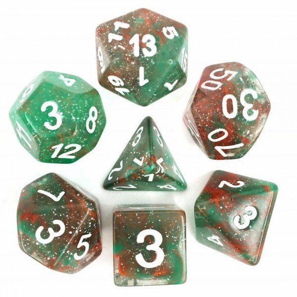 (Red + Green) Galaxy dice set