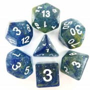 (Blue + Yellow) Galaxy dice set