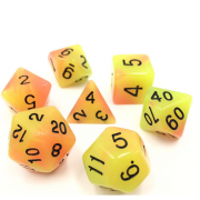 (Yellow+Orange) Blend Color Glow in the dark dice