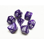 Purple pearl dice set