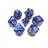 Blue pearl dice set