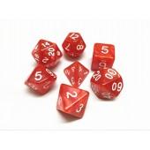 Red pearl dice set