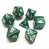 Green pearl dice set