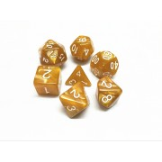 Golden Pearl dice set