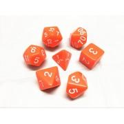 Orange opaque dice set