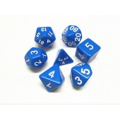 Blue opaque dice set