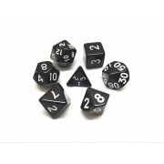 Black opaque dice set