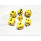 Yellow opaque dice set