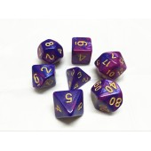 (Purple+Blue)   Blend color dice set