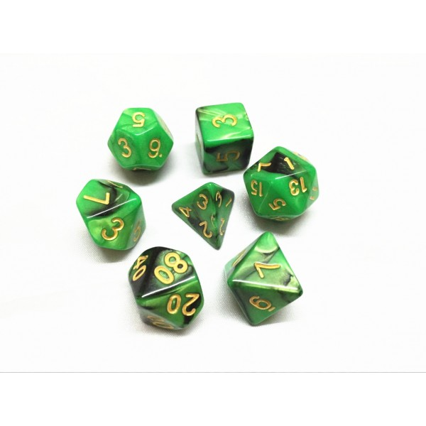 (Green+Black)   Blend color dice set