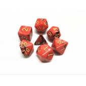 (Red+Black) Blend color dice set