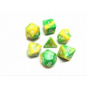 (Green+yellow)  Blend color dice set