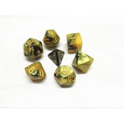 (Black+yellow)  blend color dice set