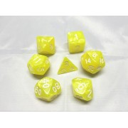Bright Yellow pearl dice set