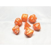 Orange pearl dice set