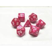 Rose red pearl dice set