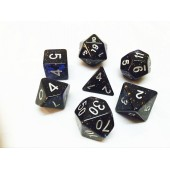 Blue dice set