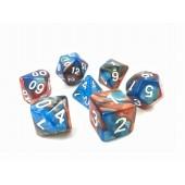 (Blue+golden)   Blend color dice set