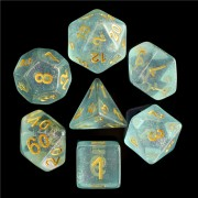Blue Iridecent Dice