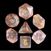 Pink Iridecent Dice Set