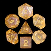Orange Iridencent Dice