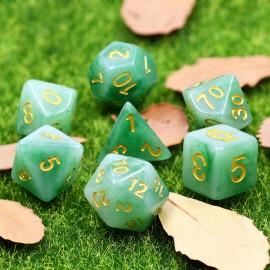 Green Jade dice set