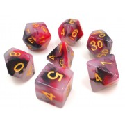 (Black+Red) Jade dice set