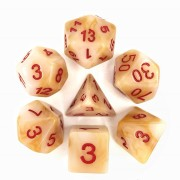 White(Red font) Jade dice set