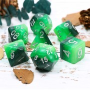 Green Gradients dice set