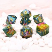 (Blue+Yellow+Rose Red) Marble dice